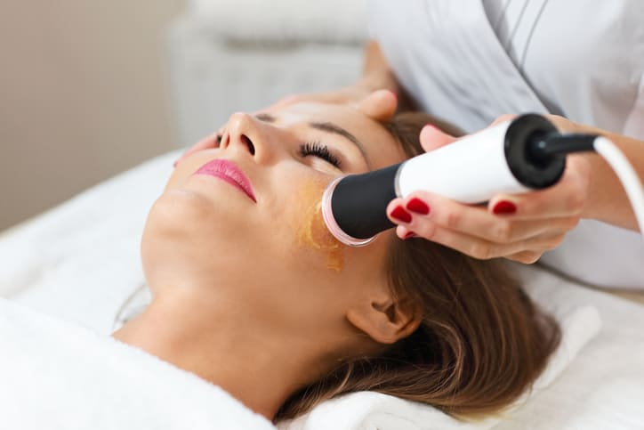 Getting skincare treatment at esthetician school in Houston, Texas