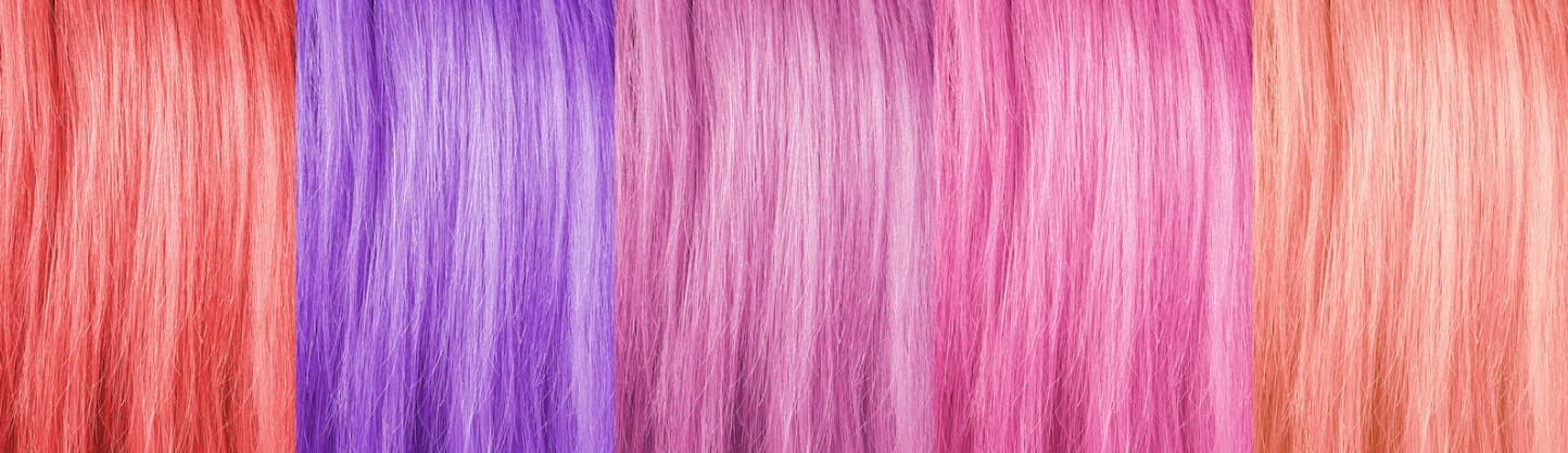 hair coloring examples at cosmetology continuing education