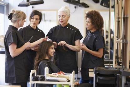 Cosmetology Students and Teacher